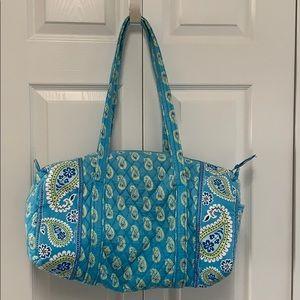 Vera Bradley Duffle Bag in Bermuda Blue